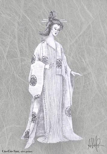 Una Madama Butterfly Liberty al Bellini di Catania: Corno si ispira a Fortuny e veste Cio Cio San di seducenti delphos